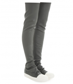 WALRUS STOCKING SNEAK BOOTS IN STRETCH LEATHER