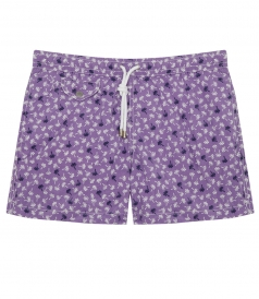 ALL OVER PALM PRINTED SWIM SHORTS