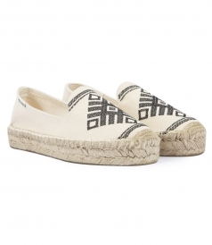 YUCATAN EMBROIDERED SMOKING SLIPPER ESPADRILLES