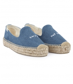 SHOES - SORRY NOT SORRY DENIM PLATFORM ESPADRILLES