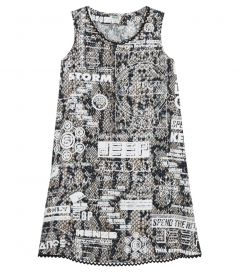 SNAKE x FLYER PRINTED DRESS IN VISCOSE CREPE
