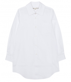 WIDE SPREAD COLLAR SHIRT IN COTTON BROADCLOTH