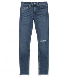 JEANS - MID-RISE VINTAGE-INSPIRED SKINNY JEAN WITH CUT-OUT HEM