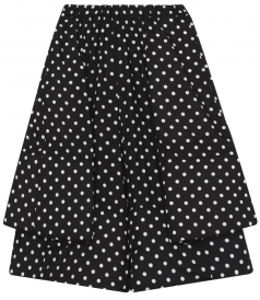 BLACK & WHITE POLKA DOT PLEATED PANTS