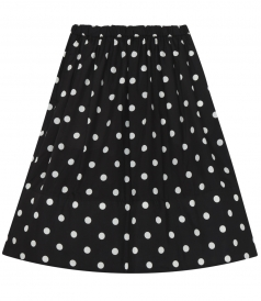 POLKA DOT FLARED SKIRT WITH ELASTIC WAIST