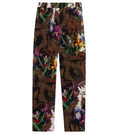 PRINTED RELAXED FIT WITH ELASTICATED WAIST TROUSERS