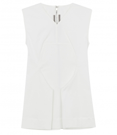 V-VECK SLEEVELESS TOP WITH BACK ZIP FASTENING & SIDE SPLITS