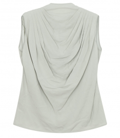 CLOTHES - CLAUDETTE DRAPPED SLEEVELESS TOP
