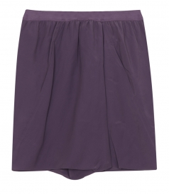 SHORTS - LOW WAIST ZIP CULOTTE IN SILK BLEND