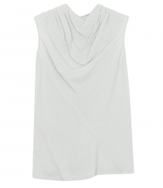 BONNIE SLEEVELESS DRAPED TOP FT ZIP BACK CLOSURE