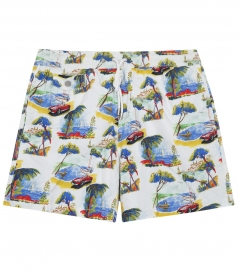 SEA PRINTED SWIM SHORTS WITH SIDE POCKETS