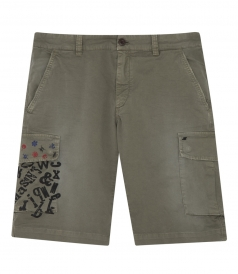 CARGO BERMUDA FT MICROPRINTS ON SIDE POCKET