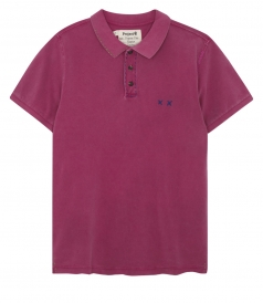 HEAVY MENDING REGULAR FIT POLO WITH DISTRESSED HEM