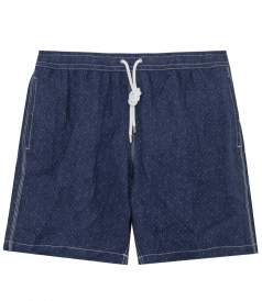 MICROPRINTED SWIM SHORTS WITH ELASTICATED WAIST