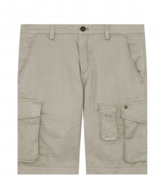 CLOTHES - CARGO BERMUDAS IN COTTON BLEND FT MULTIPLE POCKETS