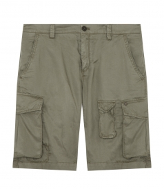 SHORTS - CARGO BERMUDAS IN COTTON BLEND FT MULTIPLE POCKETS