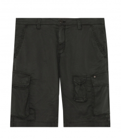 CARGO BERMUDAS IN COTTON BLEND FT MULTIPLE POCKETS