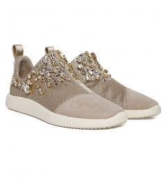 GEMMA CRYSTAL EMBELLISHED SLIP ON SNEAKERS