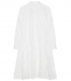 CLOTHES - WASHED SATIN A LINE MIDI SHIRT DRESS