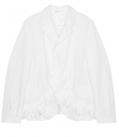 CLOTHES - POLYESTER TWILL JACKET WITH RUFFLED HEM