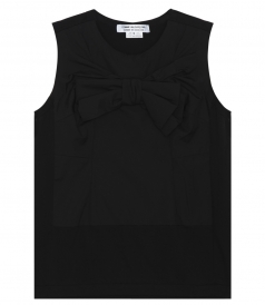 BRAD JERSEY PANELLED SLEEVELESS TOP FT BOW DETAIL