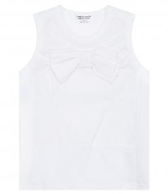 TOPS - BRAD JERSEY PANELLED SLEEVELESS TOP FT BOW DETAIL
