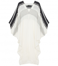 LONG BEACH KAFTAN WITH LARGE BATWING SLEEVES IN COTTON BLEND