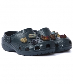 STONE EMBELLISHED CROCS CLOGS WITH SLINGBACK STRAP