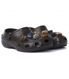 SALES - STONE EMBELLISHED CROCS CLOGS WITH SLINGBACK STRAP
