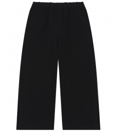OXFORD CROPPED PANTS WITH ELASTIC WAIST