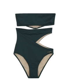 THE SIA CUTOUT STRAPLESS ONE-PIECE SUIT