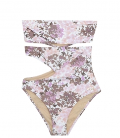 EMMANUELA SWIMWEAR - THE SIA CUTOUT FLORAL PRINTED ONE-PIECE SUIT