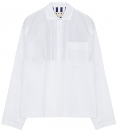LONG SLEEVE STRIPE DETAILED SHIRT IN COTTON