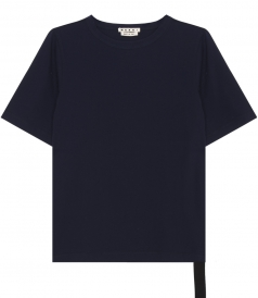 CLOTHES - INTERNAL STRAP CREWNECK SHORT SLEEVE T-SHIRT IN COTTON