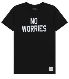 CLOTHES - NO WORRIES PRINTED CREWNECK TEE IN COTTON