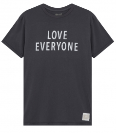 CLOTHES - LOVE EVERYONE PRINTED CREWNECK TEE IN COTTON