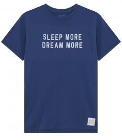 CLOTHES - SLEEP MORE DREAM MORE PRINTED CREWNECK TEE IN COTTON