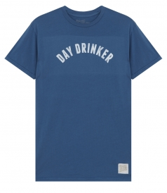 CLOTHES - DAY DRINKER PRINTED CREWNECK TEE IN COTTON