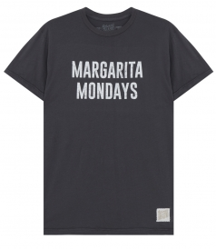 CLOTHES - MARGARITA MONDAYS PRINTED CREWNECK TEE IN COTTON
