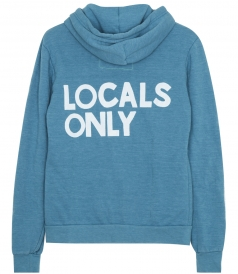 CLOTHES - LOCALS ONLY PRINTED ZIP HOODIE