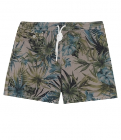 CLOTHES - PRINTED SWIM SHORTS FT STITCH DETAILING