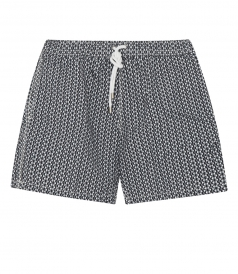 MICROWAVE ALL OVER PRINTED SWIM SHORTS FT SIDE POCKETS