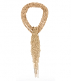 ITACA MULTI LAYERED GOLD NECKLACE WITH FRINGES