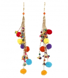 ROSANTICA - CANCUN LONG EARRINGS FT BEADS & TASSELS