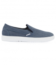 GROVE WOVEN EMBOSSED SUEDE SLIP ON SNEAKERS
