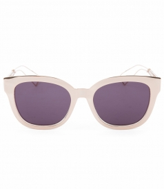 DIORAMA ROUND SQUARE SHAPED SUNGLASSES FT CUT-OUT TEMPLES