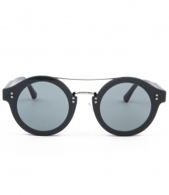 MONTIE ROUND FRAMED SUNGLASSES WITH DOUBLE BRIDGE