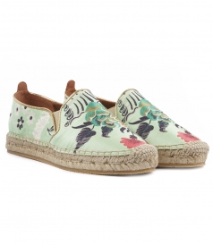 ETRO - JASCQUARD PRINTED ESPADRILLES WITH GOLDEN PIPING