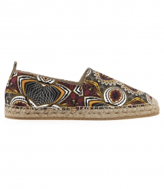 COTTON CRAFTED ESPADRILLES FT AFRICAN PRINTING