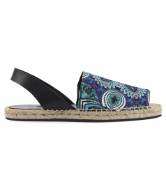 AFRICAN PRINTED OPEN TOE ESPADRILLES